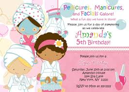 spa birthday party invitations printables free spa party ideas
