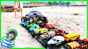 rc monster truck videos rc monster truck crushes toy monster trucks youtube