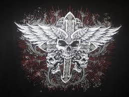cross angel wing tattoos skulls wings cross biker tattoo hoodie mens hanes tattoos