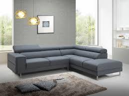 canapé en tissu gris canapé d angle design en tissu gris avec tétières 280 cm