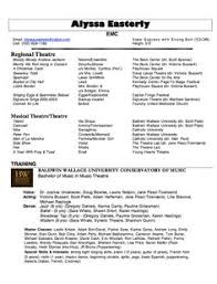 Sample Blank Resume by Musical Theatre Resume Template