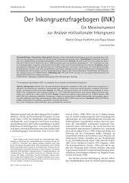 der inkongruenzfragebogen ink u2014ein meßinstrument zur analyse