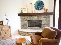 classic stacked stone wood burning fireplace ideas with antique