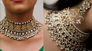 wedding choker necklace images Beautiful kundan choker necklace set design indian wedding jpg