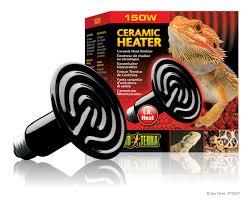 Reptile Heat Lamps Safety by Exo Terra Ceramic Heater Ceramic Heat Emitter