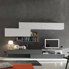 Wall Tv Stands Modern Italian Tv Stand In Composition Of Grey And Mustard Colours