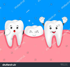 halloween background dental new tooth character growing up dental stock vector 573498487