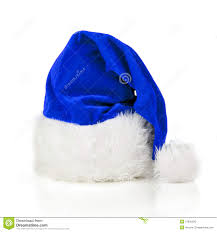 blue santa hat blue santa claus hat stock photo image 27842820