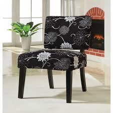 Black Accent Chair Black And White Floral Accent Chair Chairs Seat N Sleep