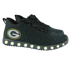 green bay packers lights green bay packers men s light up sneaker at the packers pro shop