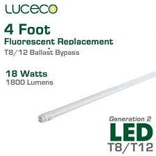 how to wire a 2 l ballast luceco led fluorescent replacement tube 4 ft 18w ballast bypass