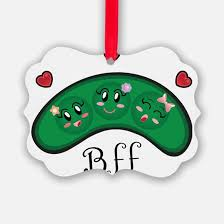 peas in a pod ornament two peas in a pod christmas ornament cafepress
