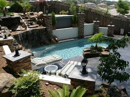 Small Backyard Pool by Small Backyard Landscaping Ideas With Nice Rock Decoration And