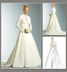 wedding dress pattern diy wedding dress in grace style from vogue patterns