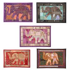 hand beaded table runners elephant hand embroidered beaded work table runner tapestry