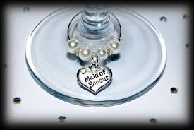 flower girl charms wedding favors favours wine glass charms top table and other roles