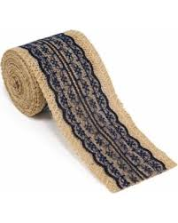 navy blue lace ribbon amazing fall savings on burlap ribbon roll with navy blue lace