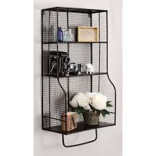 linon home decor distressed wall storage organizer ammeshelfw1