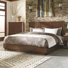 Bedroom Set Plus Mattress Avery Collection 200981 Platform Bed In An Aged Bourbon By Coaster