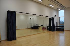Laminate Dance Floor Our Optimax Studio Mirrors And Duratrack Curtains Installed In 4