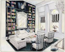 interior drawing of carolina george u0027s soho penthouse illustrated