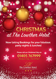 christmas 2017 at the lowther hotel event goole east