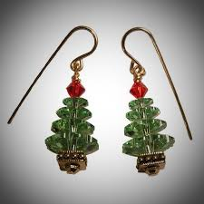 christmas earrings christmas jewelry