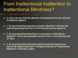 Inattentional Blindness Definition Consciousness First Attention First Ppt Download