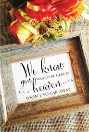In Memory Of Wedding Program We Know You Would Be Here If Heaven Idealpin