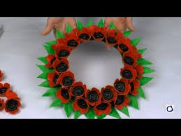 poppy wreath craft for remembrance day youtube