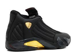 gold and black ferrari air jordan 14 retro