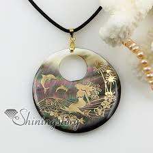 shell pearl necklace wholesale images Round sea water black oyster shell mother of pearl necklaces jpg