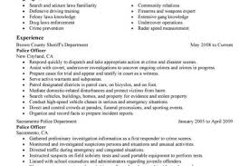 Sample Police Officer Resume by Law Enforcement Resume Examples Reentrycorps