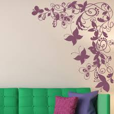floral flowers trees foliage wall stickers iconwallstickers butterflys flowers corner piece butterflies insect wall stickers home decals