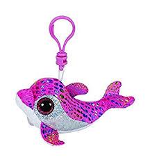 ty beanie boos sparkles pink glitter 8 5 cm dolphin keychain