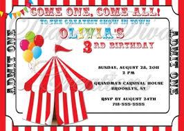 birthday invites free printable carnival birthday party