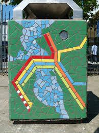 Oakland Bart Map by Bart Map Mosaic Near Macarthur Station An Transit Maps