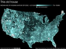 Zip Code Map Washington by Map The Age Of Housing In Every Zip Code In The U S The
