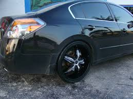 nissan altima black rims status wheels s822 dynasty wheels socal custom wheels