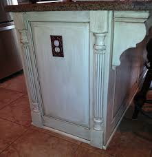 legs for kitchen island added panels and faux legs to the end of the island to give a