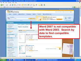 Microsoft Office Online Resume Templates by Microsoft Word Seminar Part 1