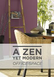 Behr Chipotle Paste by A Zen Yet Modern Office Space Can Be Achieved With A Woven Chair