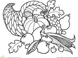 coloring page amusing cornucopia coloring color autumn