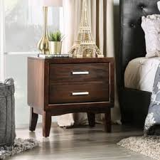 cherry finish wood nightstands u0026 bedside tables for less