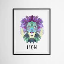 aliexpress com buy geometric lion canvas art print painting