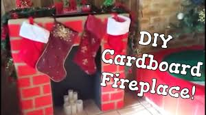diy cardboard fireplace christmas 2014 youtube