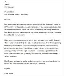 cover letter for college academic advisor position 4725