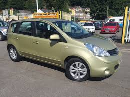 gold nissan car nissan note 1 6 16v acenta 5dr auto gold 2009 in baglan neath