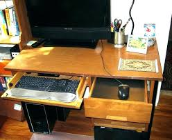 Computer Desk Tray Computer Desk With Keyboard Pullout Pull Out Glass Tray Shelf