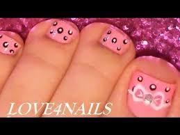 easy bow toe nail art design tutorial youtube